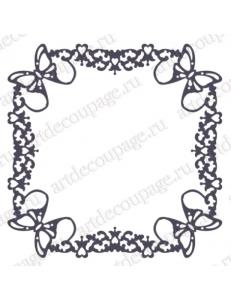 Трафарет маска фоновый EDMF152 Рамка с бабочками, Event Design, 15х15 см