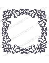 Трафарет маска фоновый МСК154 Рамка резная, Event Design, 15х15 см