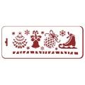 """Трафарет новогодний EDNGB038 """"Новогодние элементы"""", 10х25 см, Event Design"""