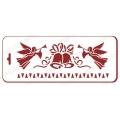 """Трафарет новогодний EDNGB042 """"Ангелы и колокольчики"""", 10х25 см, Event Design"""