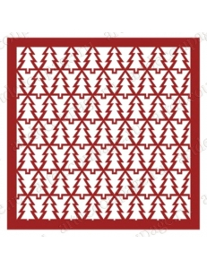 "Трафарет маска новогодний НГМС04 ""Орнамент из елок"", 15х15 см, Event Design"