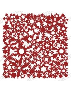 "Трафарет маска новогодний НГМС16 ""Орнамент из снежинок 2"", 15х15 см, Event Design"