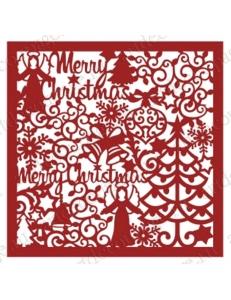 "Трафарет маска новогодний НГМС20 ""Коллаж Merry Christmas"", 15х15 см, Event Design"