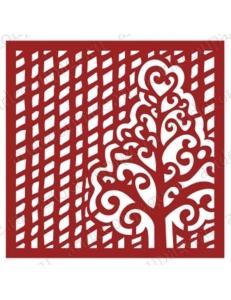 """Трафарет маска новогодний НГМС22 """"Сетка с деревом"""", 15х15 см, Event Design"""