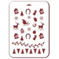 """Трафарет пластиковый новогодний EDNGP028 """"Новогодние миниатюры"""", 21х31 см, Event Design"""