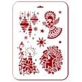 """Трафарет пластиковый новогодний EDNGP097 """"Св. Лючия"""", 21х31 см, Event Design"""