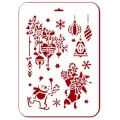 """Трафарет пластиковый новогодний EDNGP098 """"Рождественские игрушки"""", 21х31 см, Event Design"""