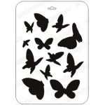 "Трафарет пластиковый EDPL002 ""Бабочки"", 21х31 см, Event Design"