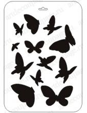"Трафарет пластиковый ТСИ-пл-002 ""Бабочки"", 21х31 см, Event Design"