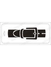 """Трафарет пластиковый бордюр EDTFT002 """"Пряжка"""", 10х25 см, Event Design"""