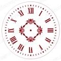 """Трафарет для часов пластиковый """"Циферблат с орнаментом 01"""", Event Design, диаметр 15 см"""