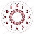 """Трафарет для часов пластиковый """"Циферблат с орнаментом 02"""", Event Design, диаметр 15 см"""