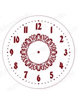 Трафарет для часов Циферблат с орнаментом 02, Event Design, диаметр 15 см