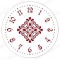 """Трафарет для часов пластиковый """"Циферблат с орнаментом 03"""", Event Design, диаметр 15 см"""