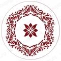 """Трафарет для росписи """"Круглый орнамент 14"""", Event Design, диаметр 15 см"""