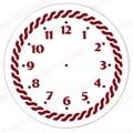 """Трафарет для часов пластиковый """"Циферблат с орнаментом 15"""", Event Design, диаметр 15 см"""