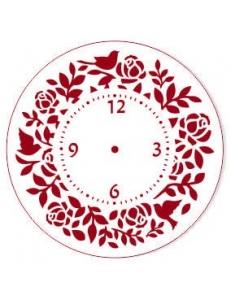 """Трафарет для часов пластиковый """"Циферблат с розами и птицами"""", Event Design, диаметр 15 см"""