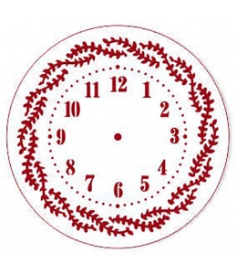 """Трафарет для часов пластиковый """"Циферблат с веточками"""", Event Design, диаметр 15 см"""