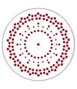 """Трафарет для часов пластиковый """"Циферблат с цветами и точками"""", Event Design, диаметр 15 см"""