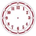 """Трафарет для часов пластиковый """"Циферблат 31"""", Event Design, диаметр 15 см"""