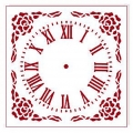"""Трафарет для часов пластиковый """"Циферблат 32"""", Event Design, диаметр 15 см"""