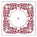 """Трафарет для часов пластиковый """"Циферблат 33"""", Event Design, диаметр 15 см"""