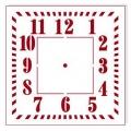 """Трафарет для часов пластиковый """"Циферблат 34"""", Event Design, диаметр 15 см"""
