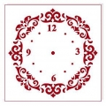 """Трафарет для часов пластиковый """"Циферблат 35"""", Event Design, диаметр 15 см"""