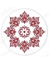 """Трафарет для росписи """"Круглый орнамент 05"""", Event Design, диаметр 15 см"""