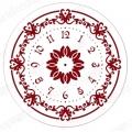 """Трафарет для росписи ELG25-02 """"Циферблат Элегант 02"""", Event Design, диаметр 25см"""
