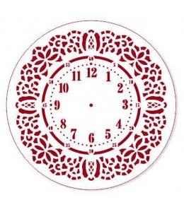 """Трафарет для часов пластиковый """"Циферблат 22"""", Event Design, диаметр 15 см"""