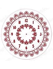 """Трафарет для часов пластиковый, циферблат """"Элегант 101"""", Event Design, диаметр 30см"""