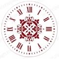 """Трафарет для часов пластиковый, циферблат """"Элегант 102"""", Event Design, диаметр 30см"""