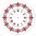 """Трафарет для часов пластиковый, циферблат """"Элегант 103"""", Event Design, диаметр 30см"""