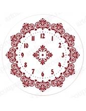 """Трафарет для часов пластиковый, циферблат """"Элегант 105"""", Event Design, диаметр 30см"""