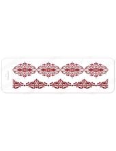 "Трафарет бордюр ""Элеганс 32"", орнамент, 10х32 см, Event Design"