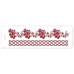 """Трафарет бордюр """"Элеганс 34"""", орнамент с розами, 10х32 см, Event Design"""
