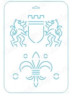Трафарет контурный Герб, 21х31 см, Event Design