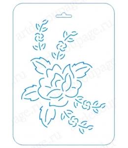 Трафарет контурный Роза, 16х22 см, Event Design