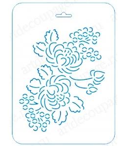 Трафарет контурный Розы и ягоды, 16х22 см, Event Design