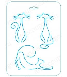 Трафарет контурный Кошки, 16х22 см, Event Design