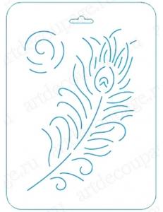 Трафарет контурный Перо, 16х22 см, Event Design