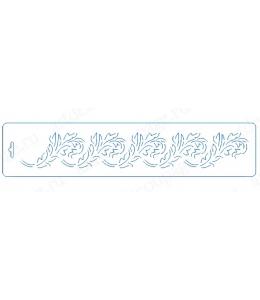 """Трафарет бордюр контурный """"Орнамент Листья"""", 10х47 см, Event Design"""