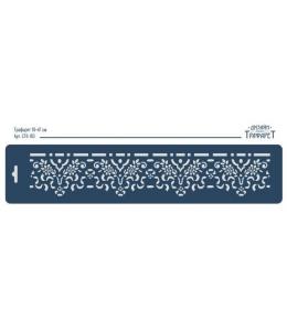 "Трафарет бордюр ""Цветы и ленты"", 10х47 см, Event Design"