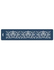 """Трафарет бордюр """"Растительный орнамент"""", 10х47 см, Event Design"""