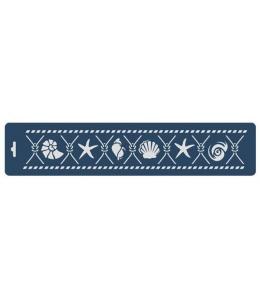 "Трафарет бордюр ""Морские символы"", 10х47 см, Event Design"