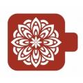 "Трафарет пластиковый Модуль Флора  М9Фл-10 ""Цветок"" 9х9 см, Event Design"
