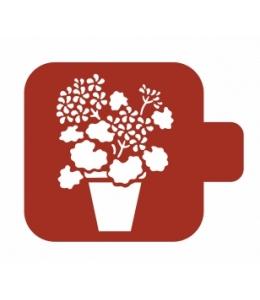 "Трафарет пластиковый Модуль Флора М9Фл-126 ""Герань"" 9х9 см, Event Design"