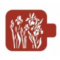 """Трафарет пластиковый Модуль Флора М9Фл-26 """"Ирисы в саду"""" 9х9 см, Event Design"""