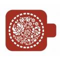 "Трафарет пластиковый Модуль Флора М9Фл-29 ""Цветы в круге"" 9х9 см, Event Design"